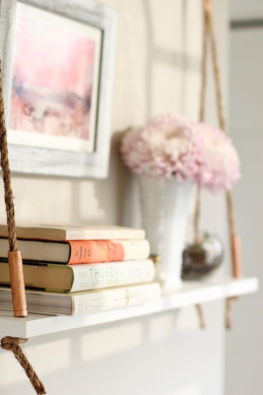DIY rope and copper shelf - The Pastiche