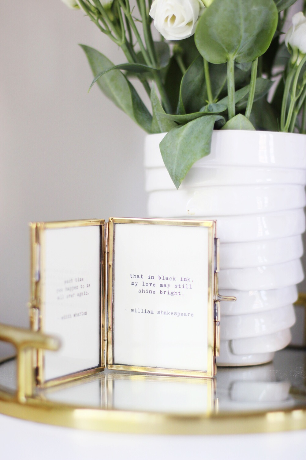 Tiny love letter vignette DIY - The Pastiche
