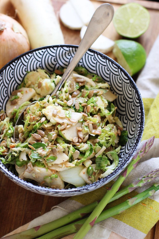 Raw green veggie slaw - The Pastiche