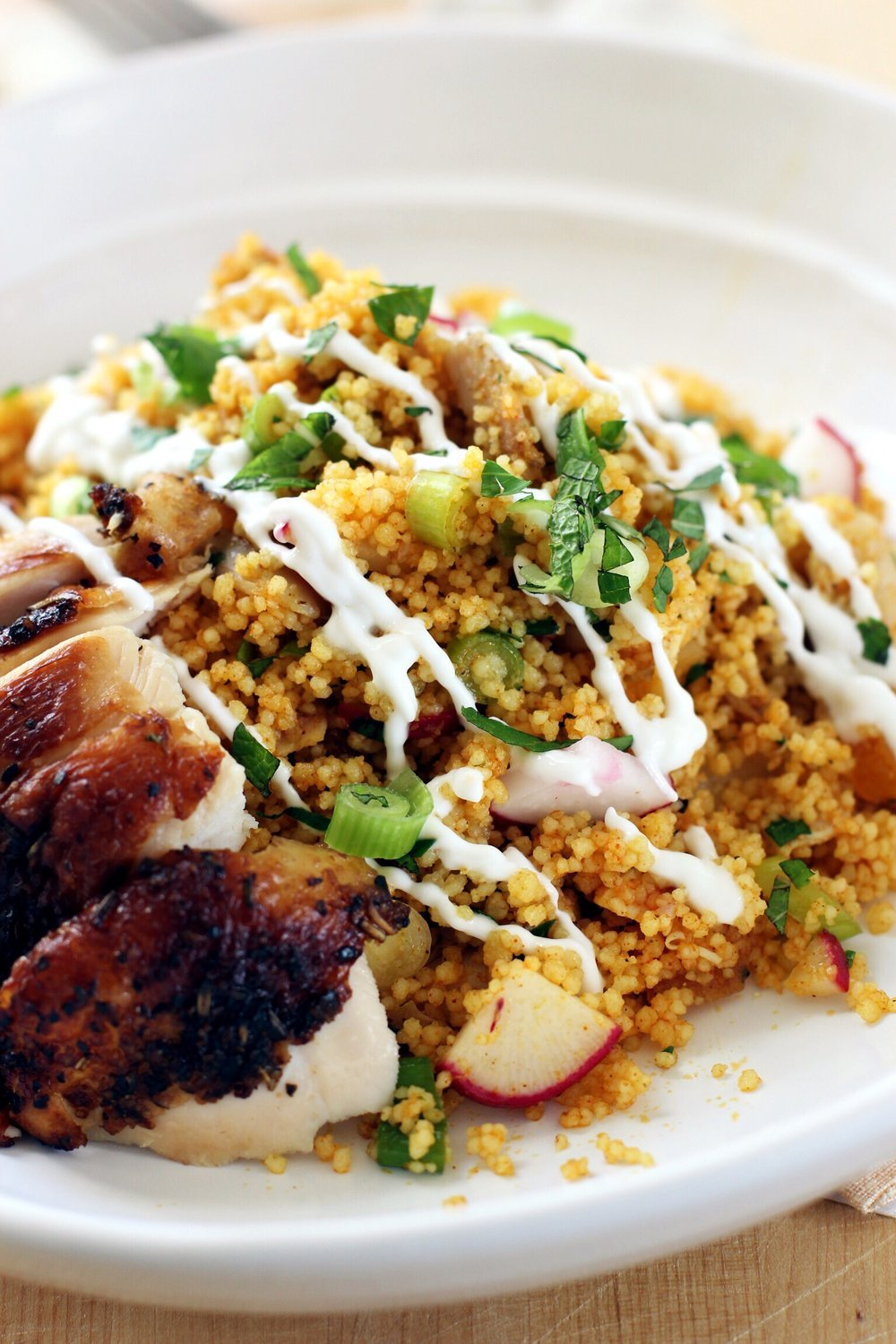 Moroccan couscous with rotisserie chicken - The Pastiche