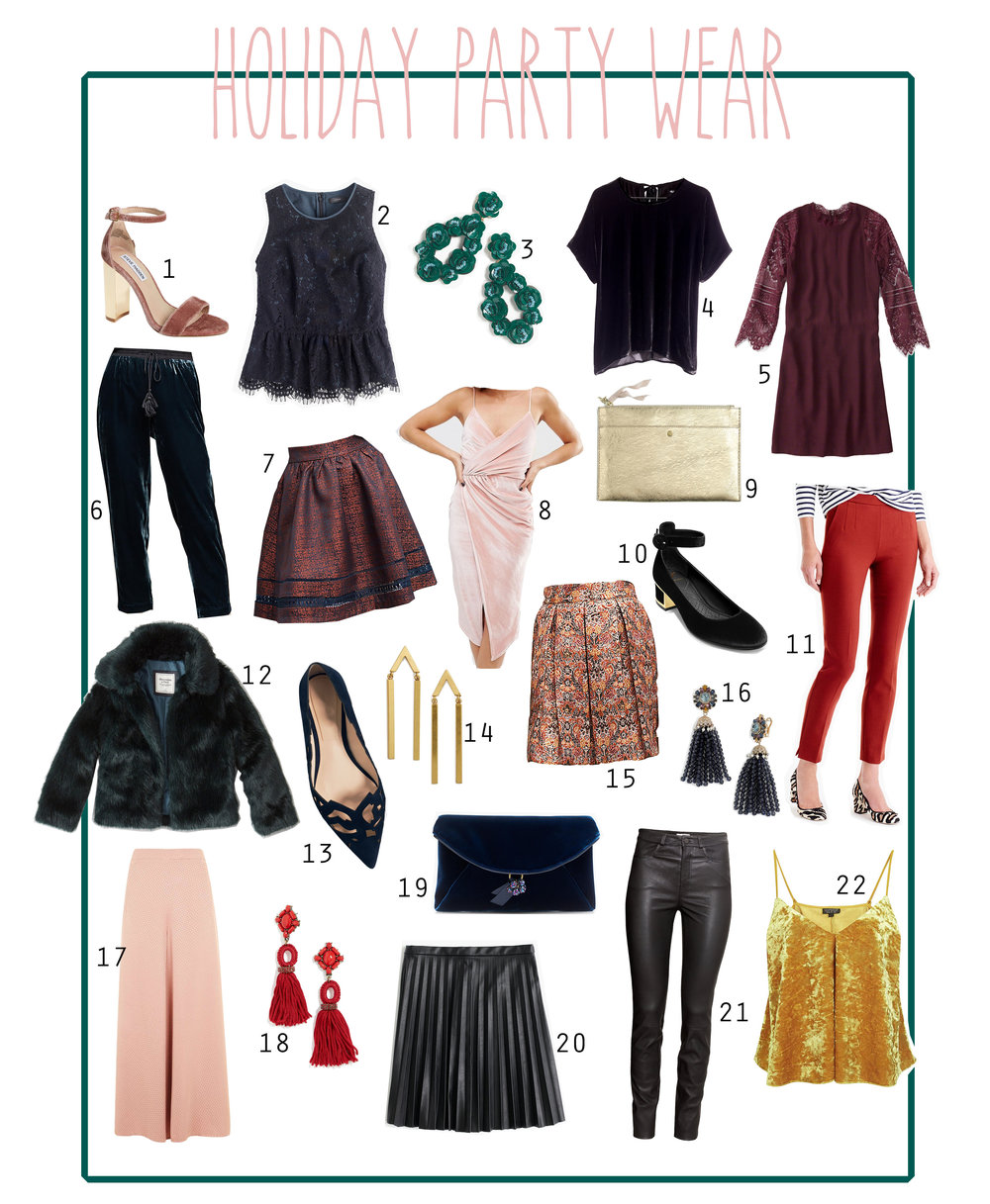 The Pastiche - Holiday party wear roundup
