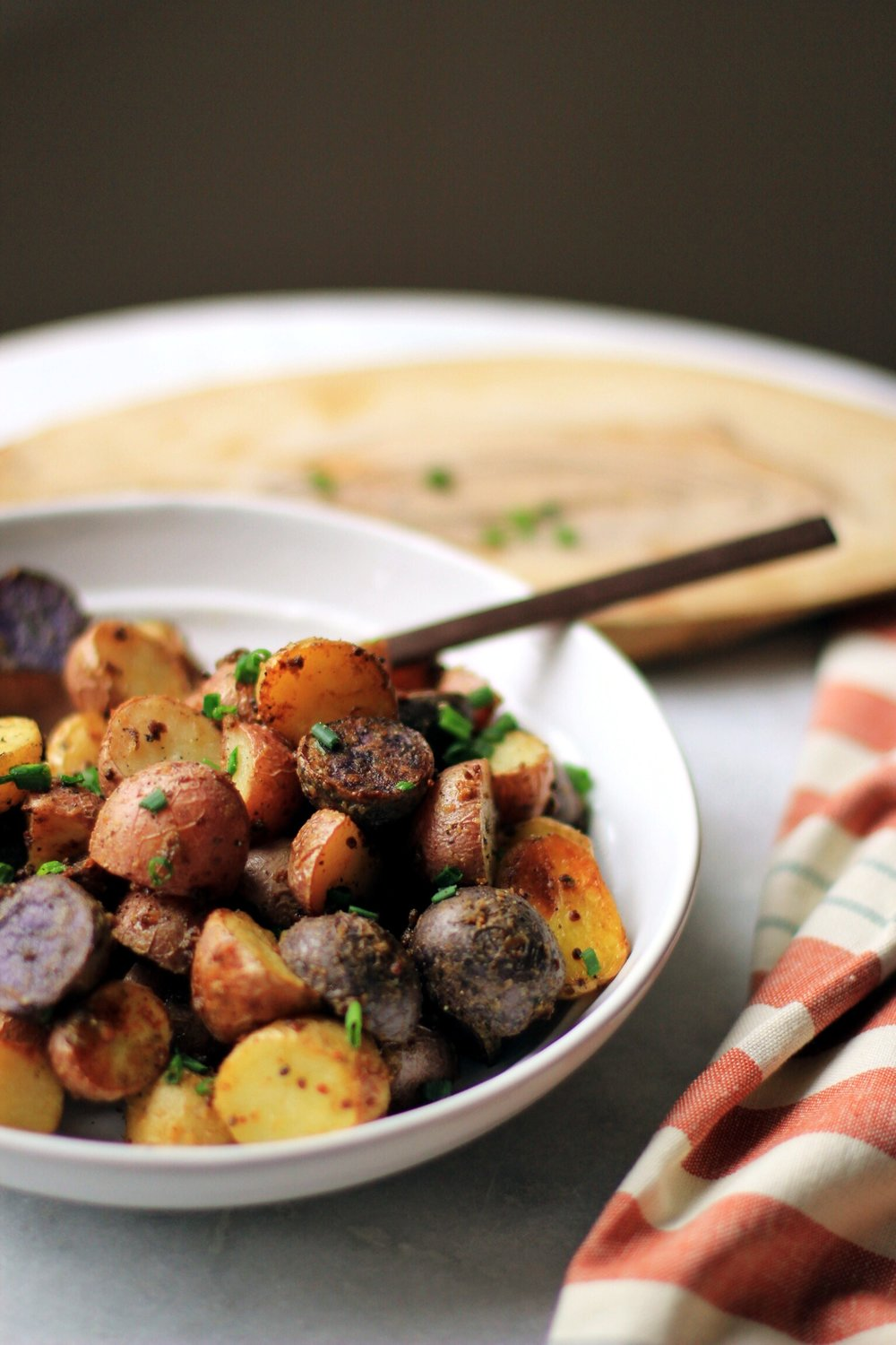 Mustard roasted baby potatoes - The Pastiche