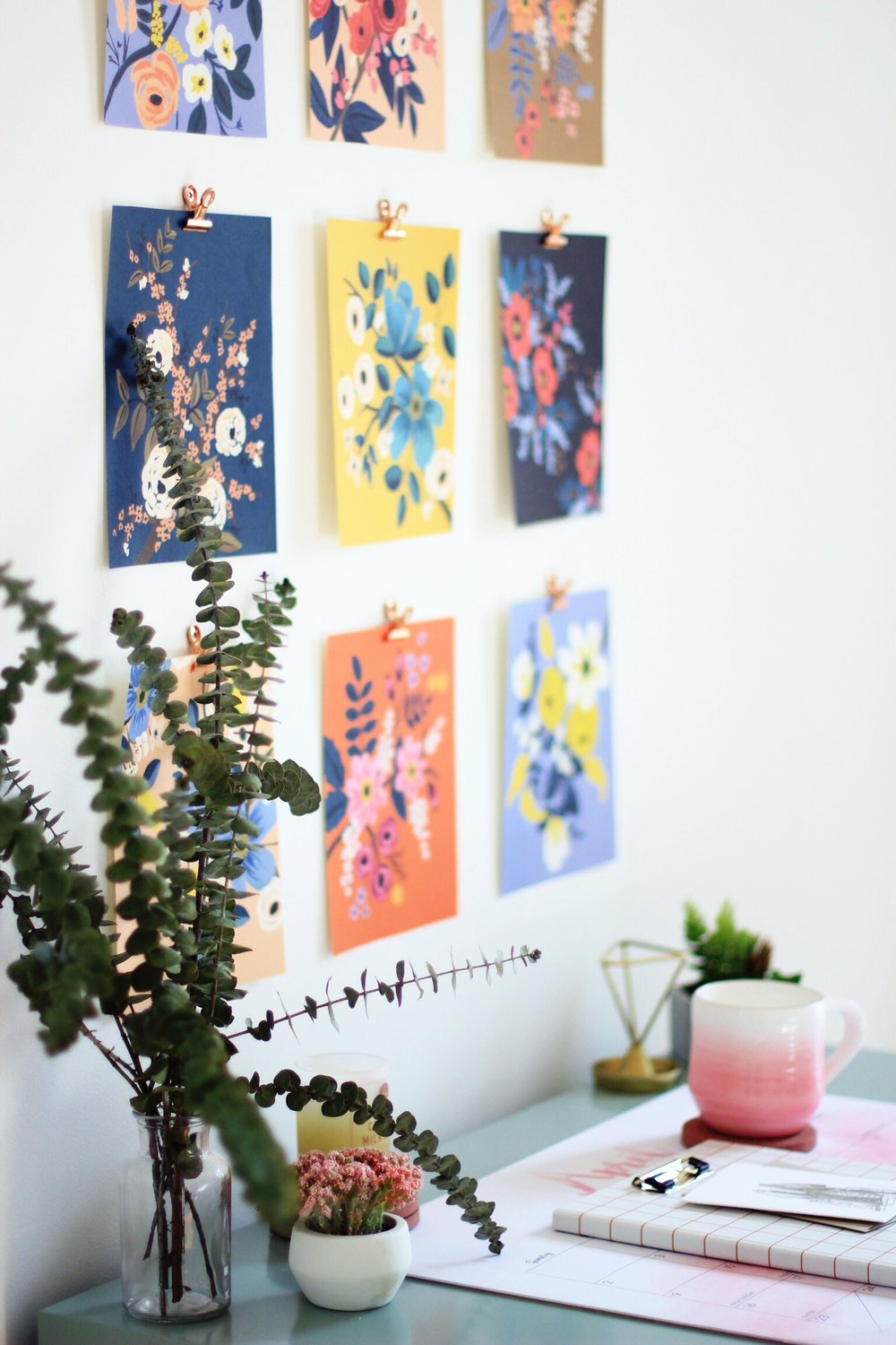 Calendar pages as wall art DIY