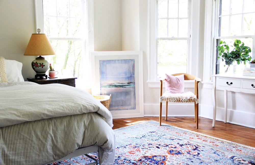 A Warm Bohemian Guest Bedroom