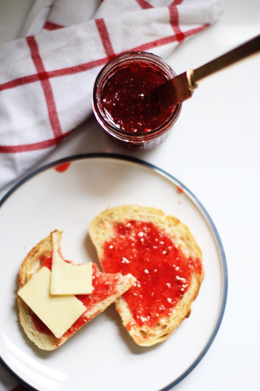 Strawberry sriracha jam