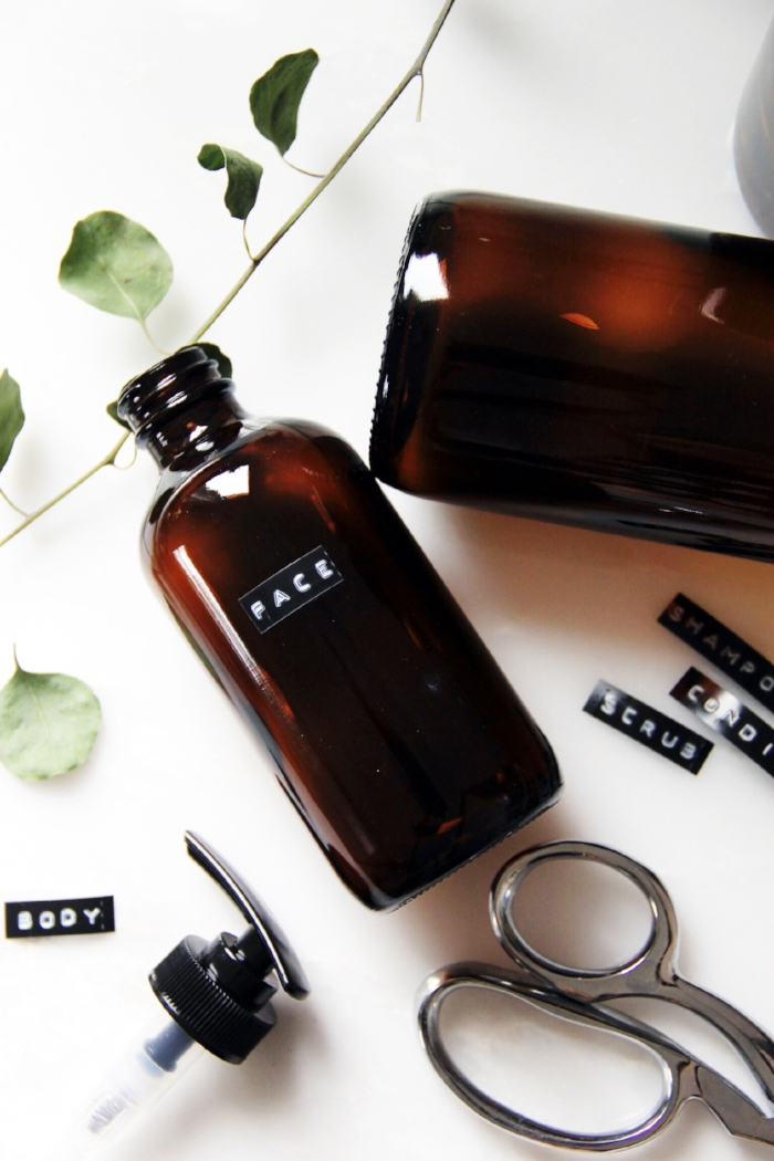 Amber shampoo bottle DIY