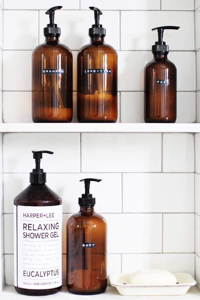 Amber shampoo bottle DIY