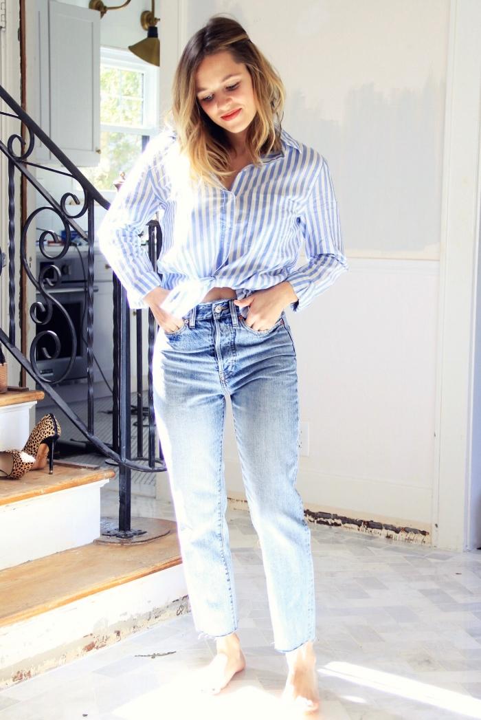 Classic striped oxford and jeans - The Pastiche