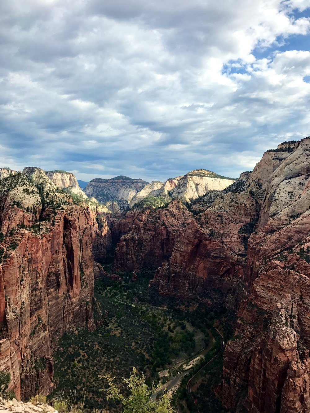 Back view from the top of Angels Landing
