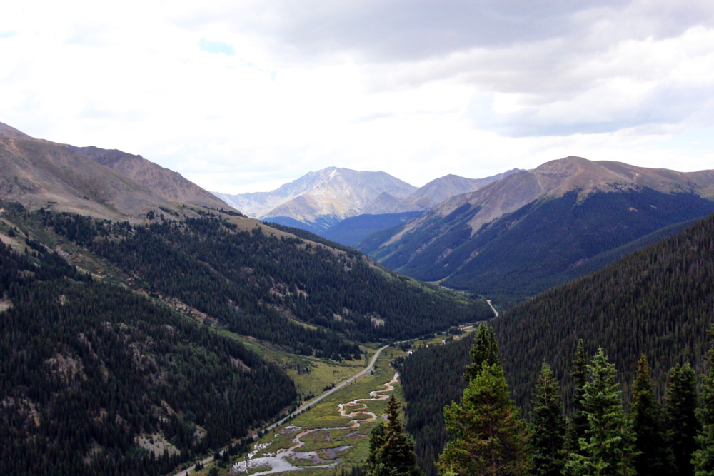 Driving through the Rocky Mountains over Independence Pass