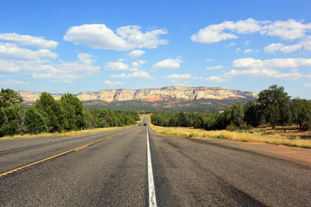 Driving through Utah