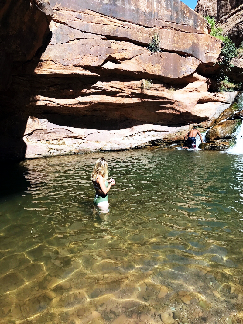 Mill Creek waterfall and swimming hole