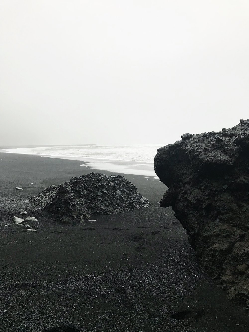 Basalt and black sands in Vik and Reynisfjara