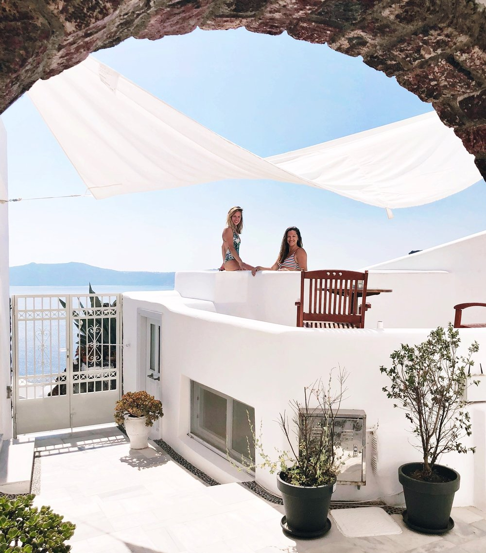 Our next dreamy Airbnb in Fira