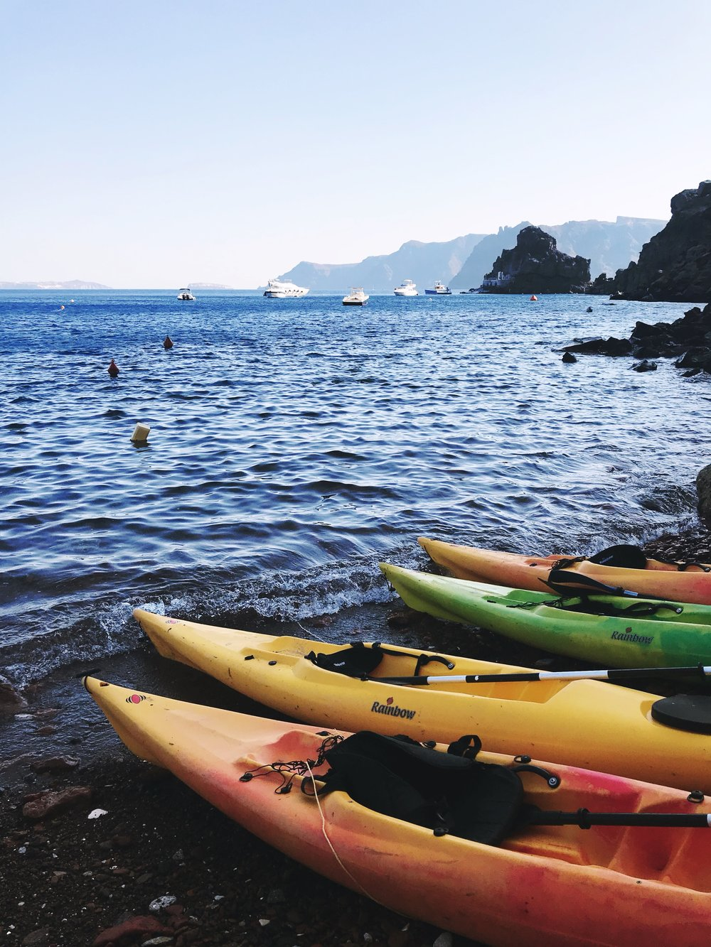 Kayaking in the Mediterranean
