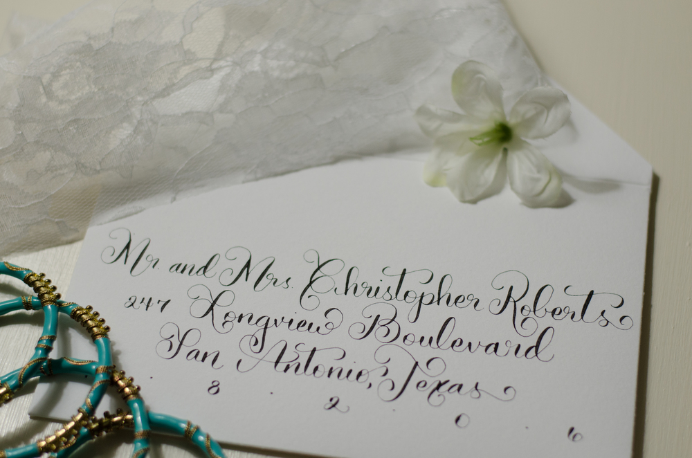 calligrapher calligraphy moderncalligraphy san antonio south texas bride wedding invitations addressing