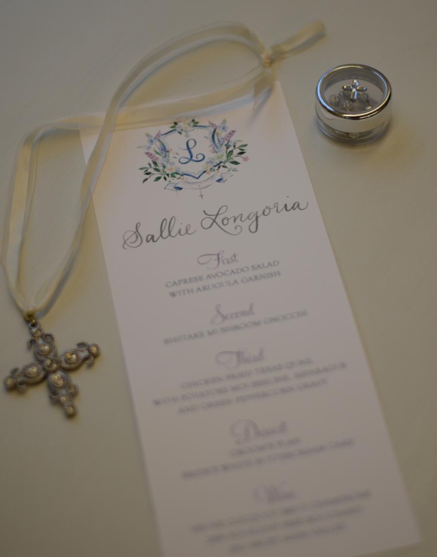 calligraphy calligrapher custom wedding SACalligrapher san antonio south texas bride wedding menu