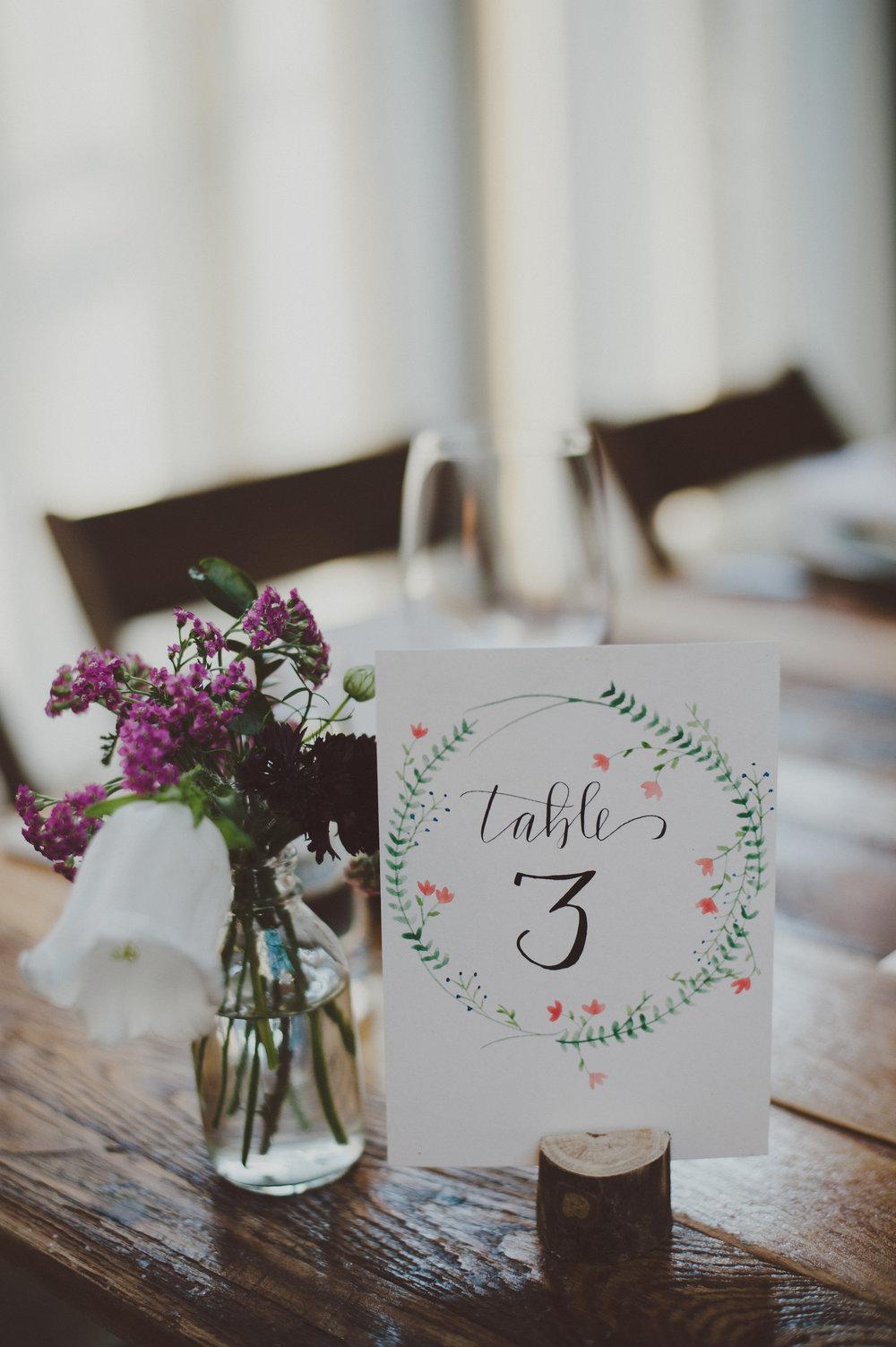 San Antonio Calligraphy South Texas Calligraphy Wedding Modern Calligraphy Weddings Table Numbers details