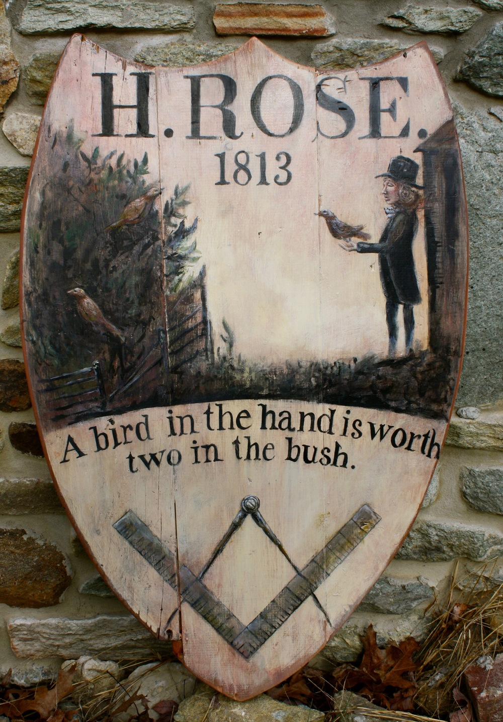 Sign for Rose's Inn, c.1813_v1