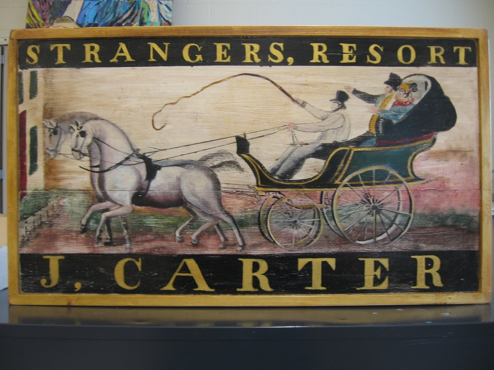 Sign for Carter's Inn, c. 1823 (Side 1)