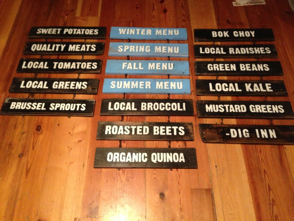 Seasonal Menu / Farm-stand signs [Dig Inn, NYC]