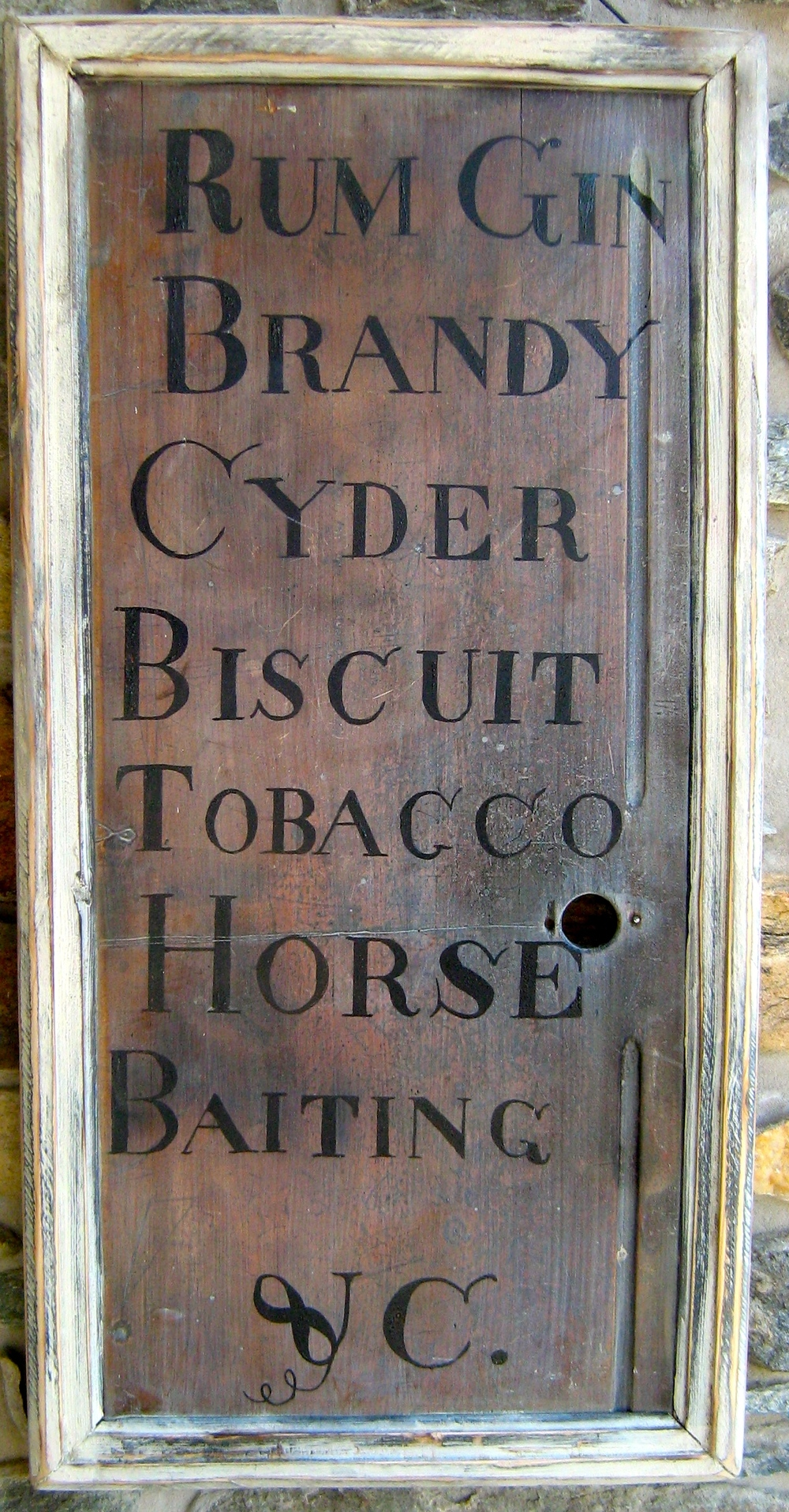Tavern Menu Sign_Colonial