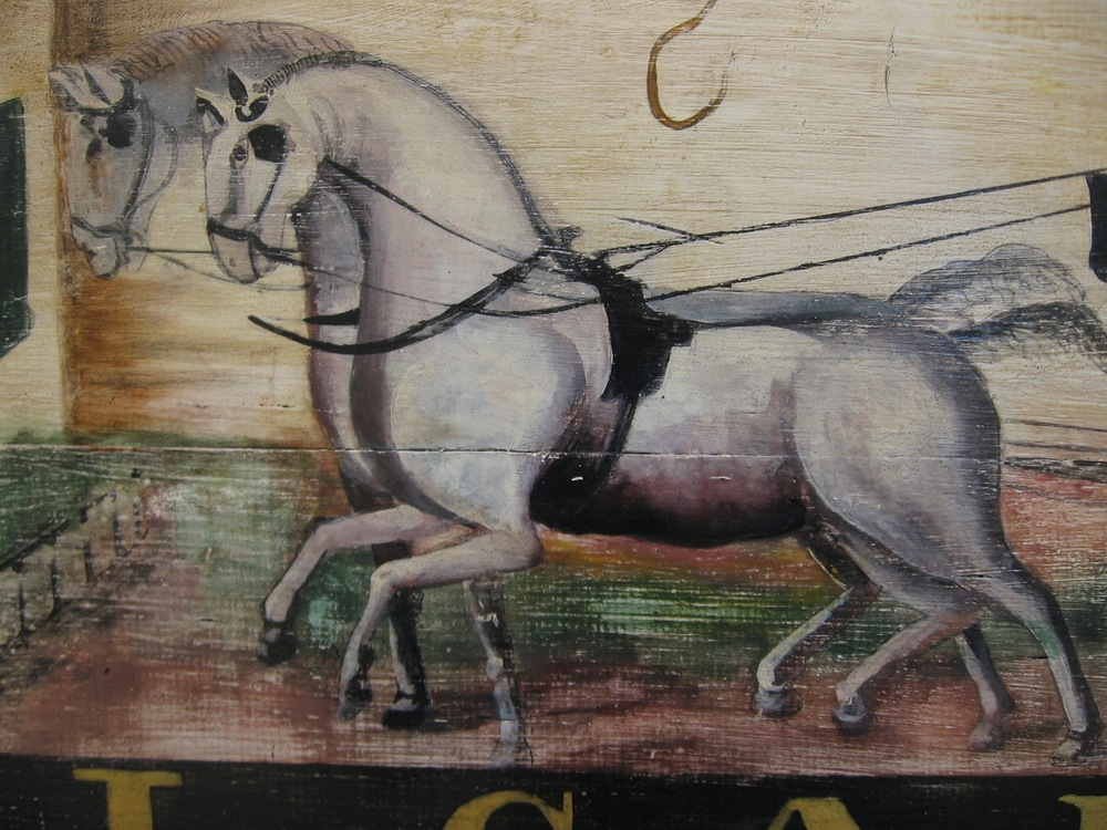 Sign for Carter's Inn, c. 1823 (Side 1) [detail]