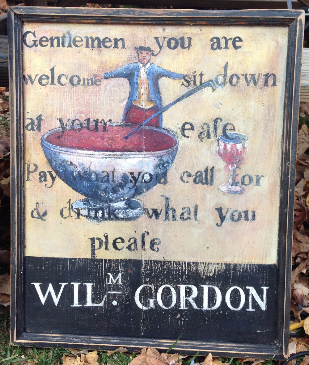 Sign for Gordon's Inn, c. 1790-1830