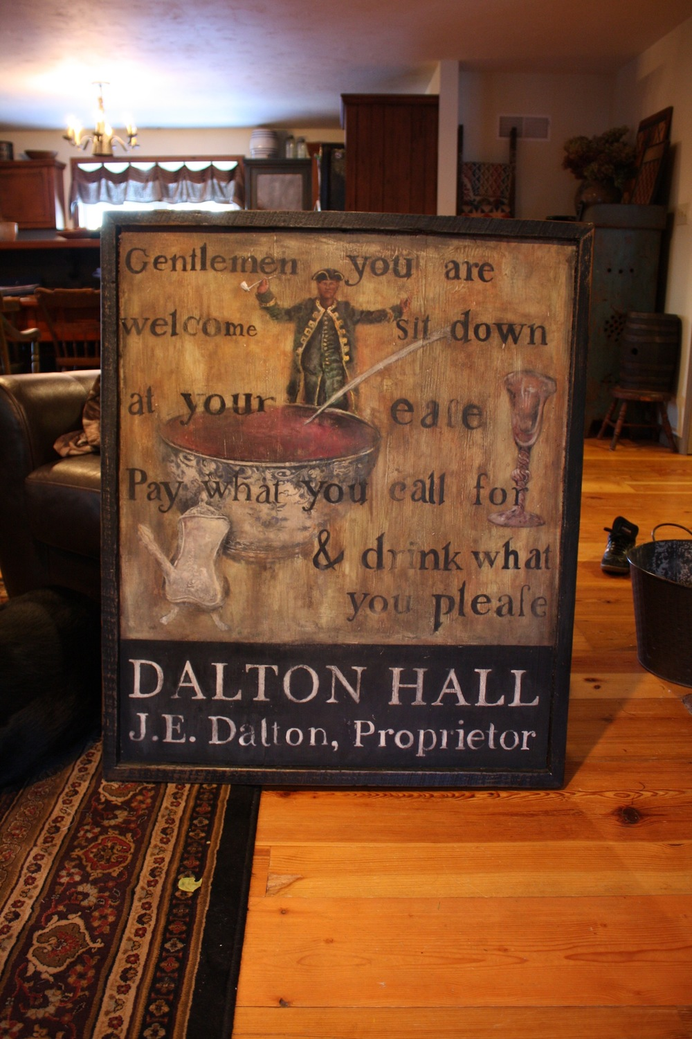 Dalton Hall, Proprietor (Tavern Sign)