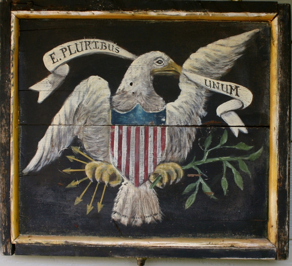 Sign of the Eagle & Flag