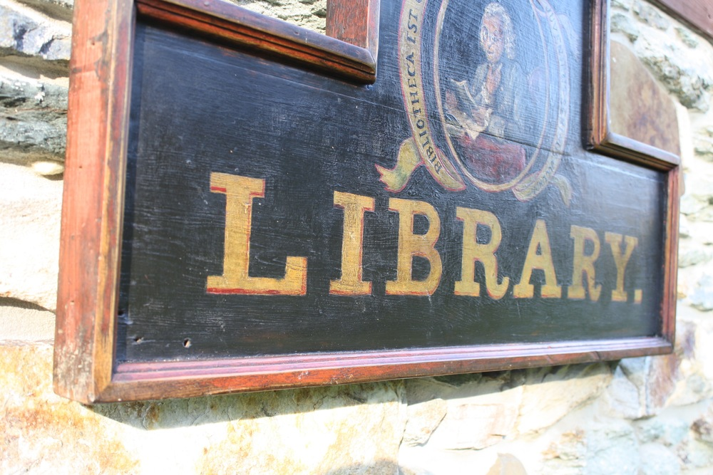 Authentic Reproduction - Newtown Library Sign (Bucks County, PA)