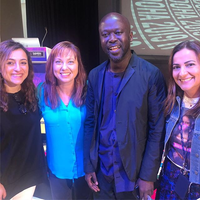What an honor to meet @adjaye_visual_sketchbook and listen to his amazing keynote talk. His designs are breathtakingly inspiring, considering the human condition and looking at buildings and commemorative spaces as vessels of historical, cultural and political journeys. He considers everything from the narratives of people to the environmental and sustainable implications of architecture to the interaction and circulation of the experiential design. The precision and attention to detail are reminiscent of ancient Egyptians obsessive manipulation is space and design and his attention to the broader narratives and  backgrounds of who and what he is designing for are revolutionary and truly demonstrate how design can be a powerful force for change! @tasmeem_doha @vcuqatar 💪🏼👏🏼❤️🔥