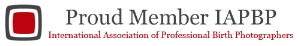 Proud member of the IAPBP | International Association of Professional birth photographers