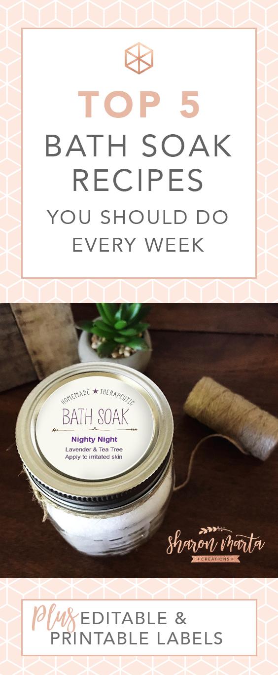Top 5 bath Soak recipes you should do every week