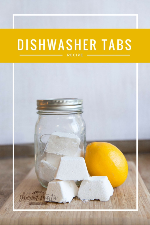 All Natural homemade dishwasher tabs