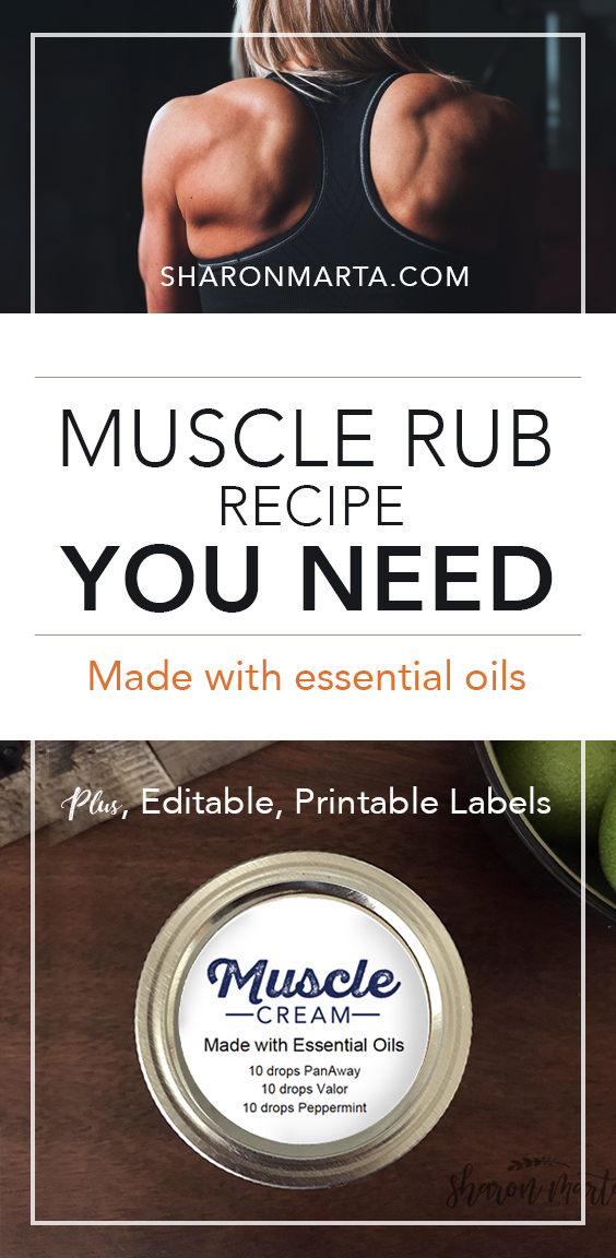 Muscle rub recipe you need made with essential oils