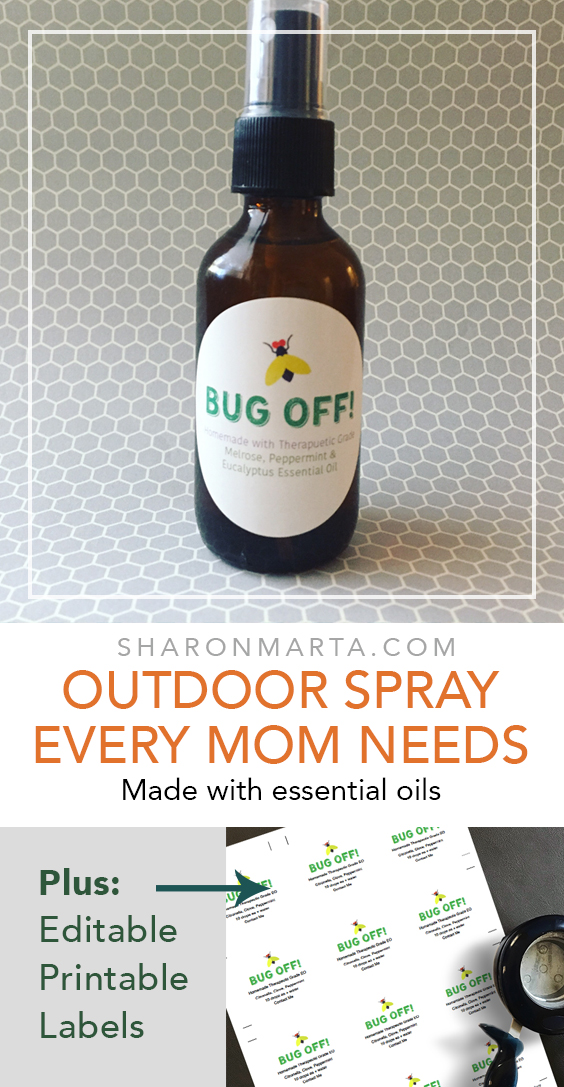 Outdoor camping bug sprays made with essential oils