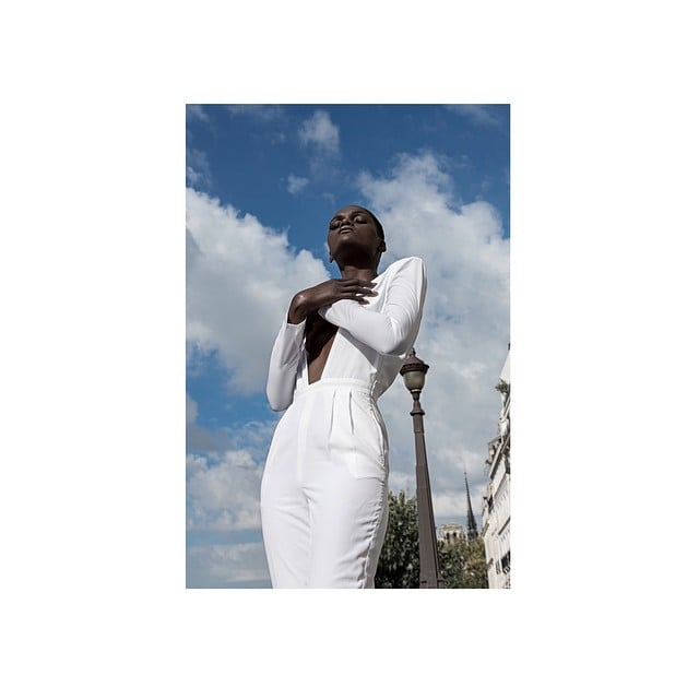 #editorial #springsummer#shoot#paris#love #city#white#jumpsuit#new#brand#dubai#photography makeup by: @giuliopanciera