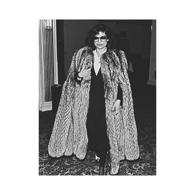 #noone#wears#capefur#betterthan#biancajagger#style#70ies#rock#fashion#style#music#swag