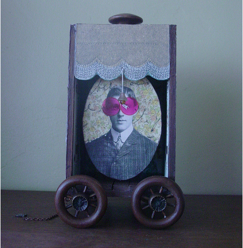 Amy Hitchcock: A Man on the Move, 2012. Assemblage.