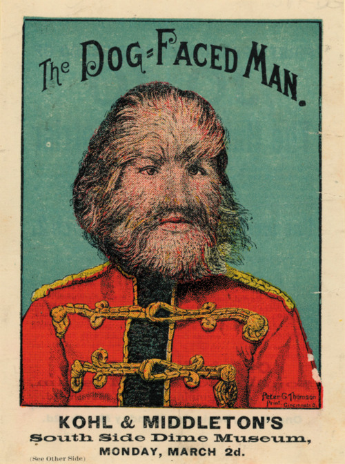 """Jo-Jo the Dog-faced Boy"" promotional poster"