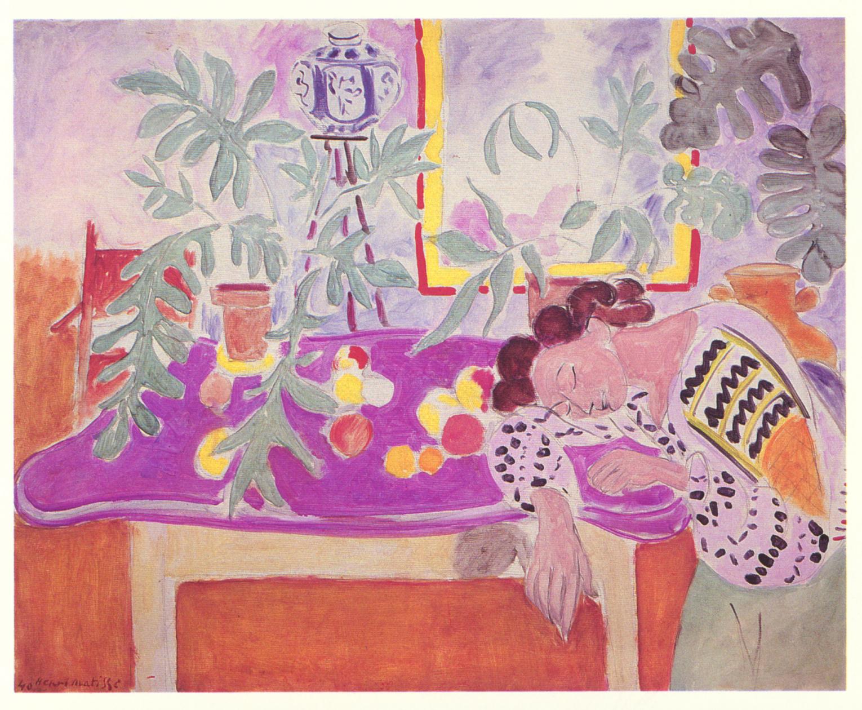 Henri Matisse: Still Life with Sleeping Woman, 1940.