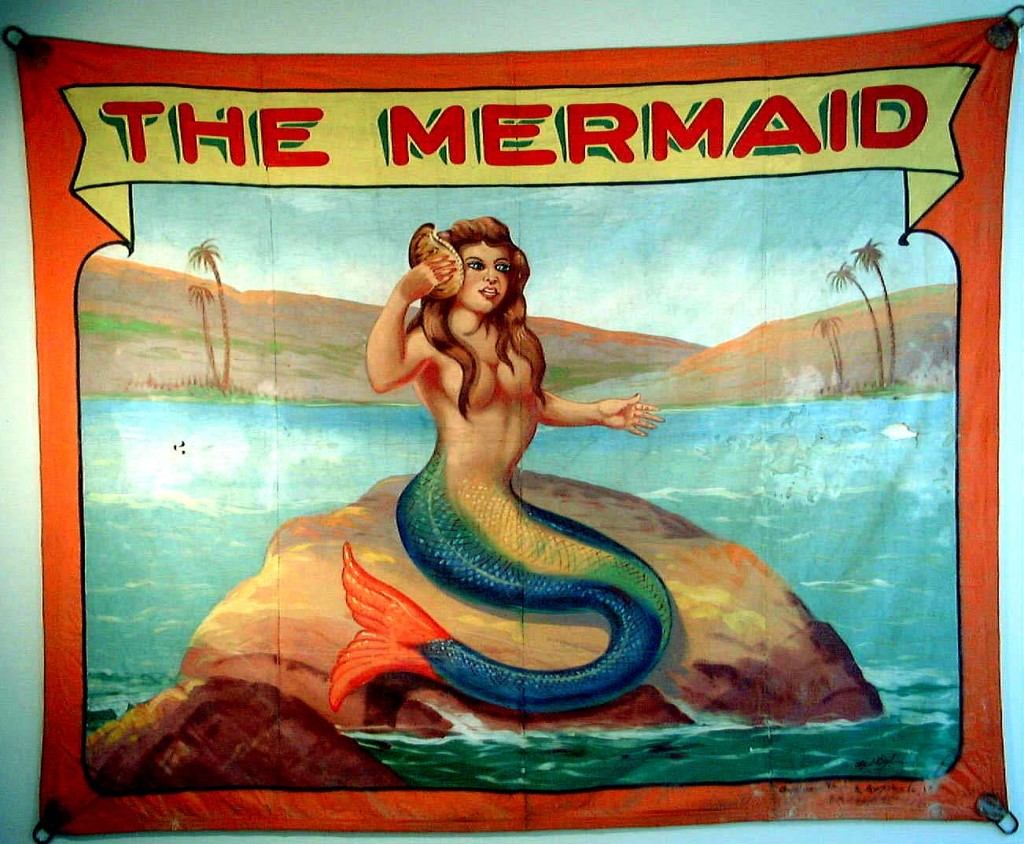 """""""The Mermaid"""" promotional banner"""
