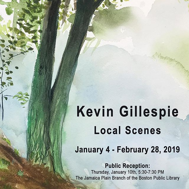 It's a new year and we are excited to be exhibiting the work of local artist, Kevin Gillespie.  On view through February 28th at the Jamaican Plain Branch of the @bplboston , generously sponsored by the @jplibraryfriends !!! . . . . . #artthatspeaks #peoplescreatives #found #makeartnow #photooftheday #visualdiaries #uforgegallery #ufgfriendsinspire #travelart #liveauthentic #createawareness #visualsoflife #nextbestartist #instagood #instaart #ifyouknowthem #creditartistswhenyoupost #sharewhatinspires #artspeaks #whatthesoulwants #supportthearts