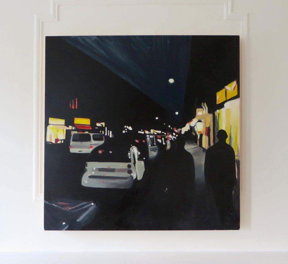 Oranienstraße , 2016  Oil on panel  36 x 36 inches  91.4 x 91.4 cm