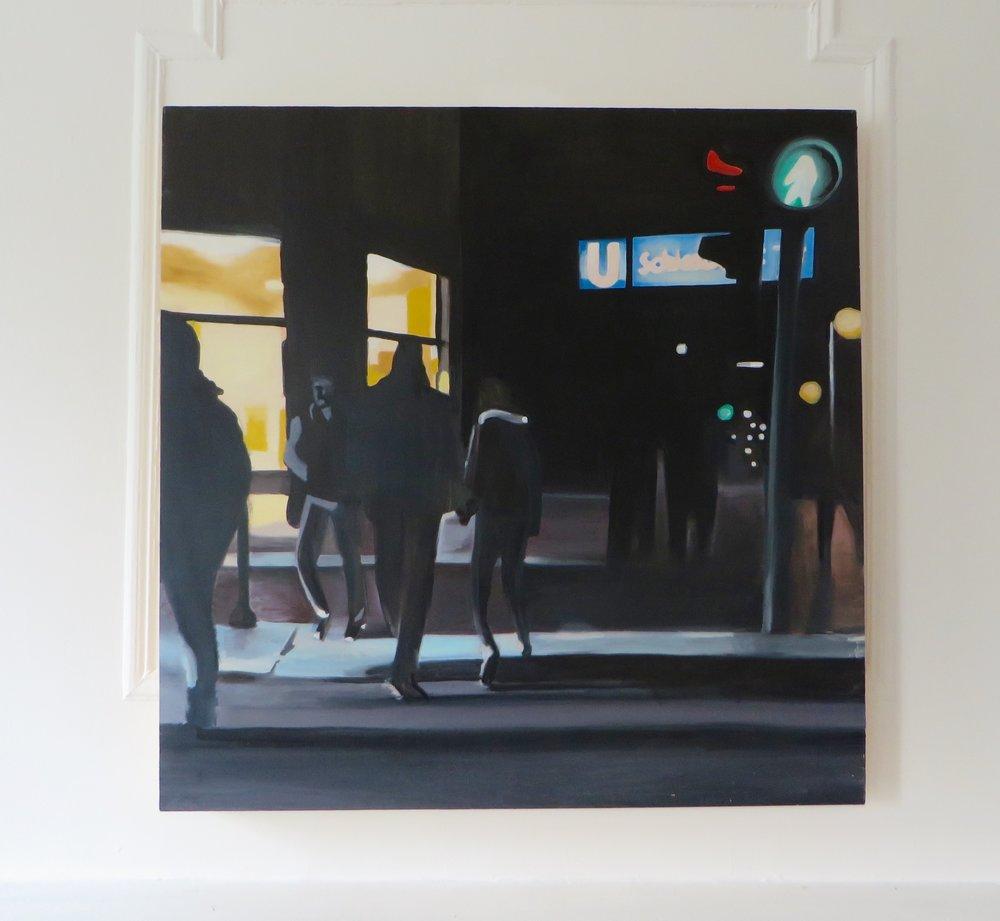 Skalitzer Straße, 2016 Oil on panel 36 x 36 inches 91.4 x 91.4 cm