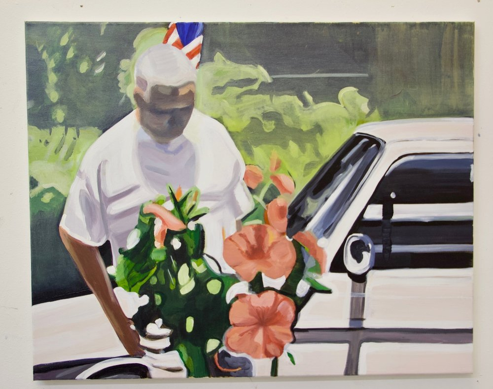 Cadillac , 2017 Oil and acrylic on canvas 24 x 30 inches 61 x 76 cm