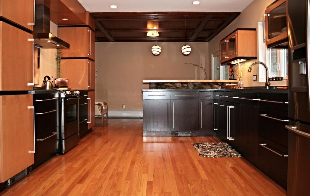 Asian inspired modern kitchen