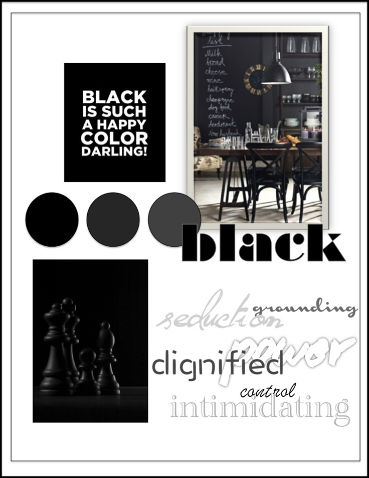 Colour Psychology: Black - Kelsey Auger Art and Decor