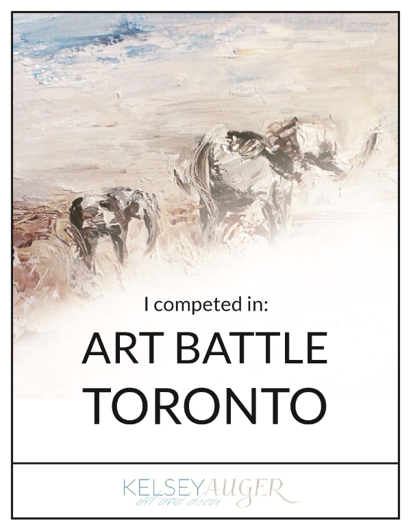 Art Battle Toronto; Kelsey Auger; Blog Post